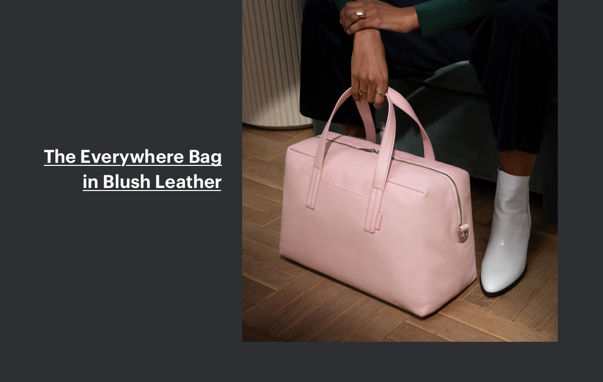The Everywhere Bag in Blush Leather