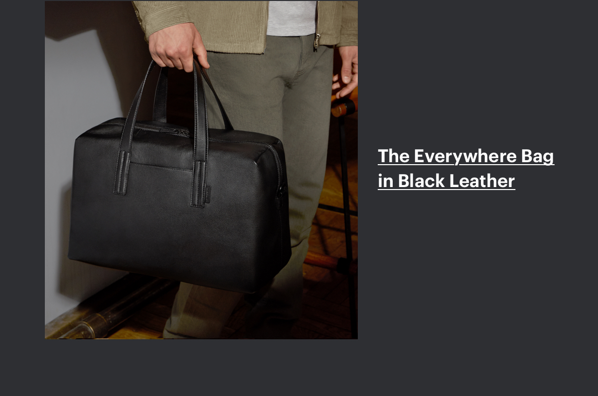 The Everywhere Bag in Black Leather